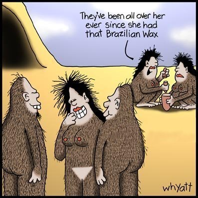 cartoon bikini wax