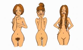 Hot girls bikini wax